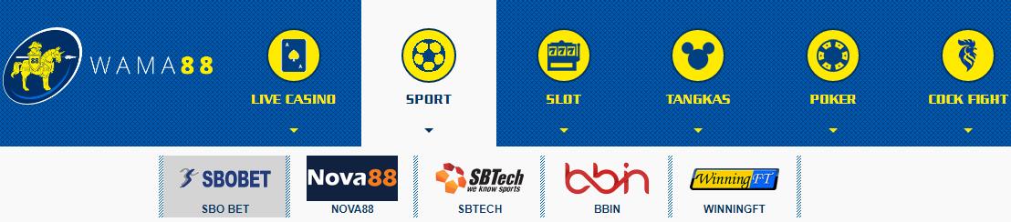 menu pilihan permainan situs wama88