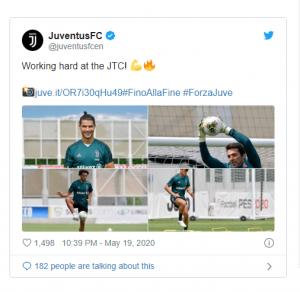 Cristiano Ronaldo, Akhirnya Kembali Berlatih Bersama Juventus