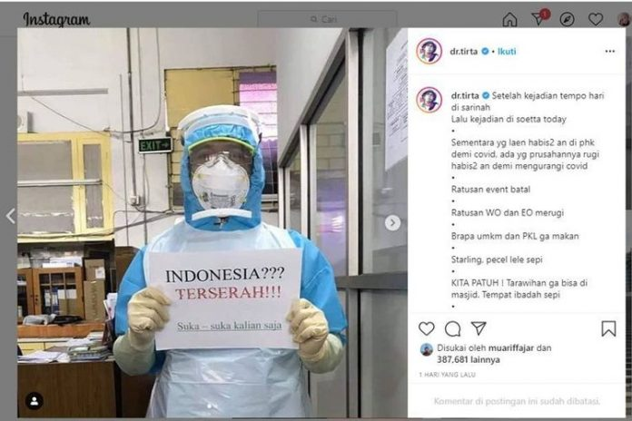 Tagar Indonesia Terserah Masuk Google Trends