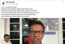Ade Armando, Dilaporkan Soal Kritik Injil Minang