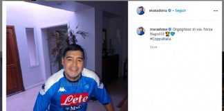 Maradona Ikut Merayakan Keberhasilan Napoli Raih Coppa Italia 2019/2020