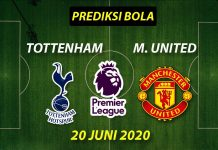 Prediksi Bola Tottenham vs Manchester United 20 juni 2020 Liga Premier Inggris