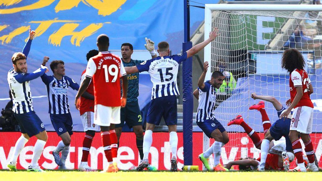Pertandingan Brighton vs Arsenal