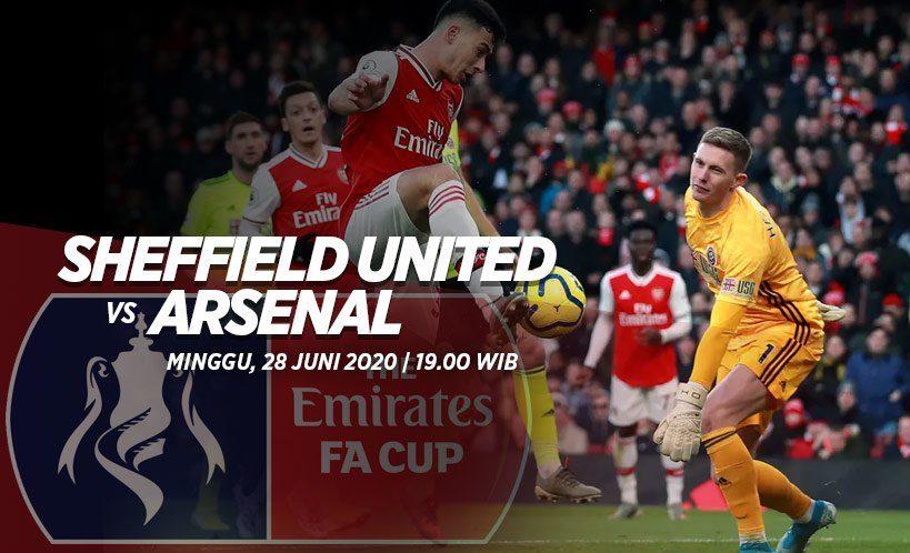 Pertandingan antara Sheff United dan Arsenal