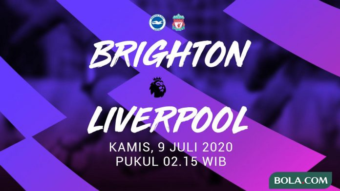Brighton vs Liverpool tadi malam