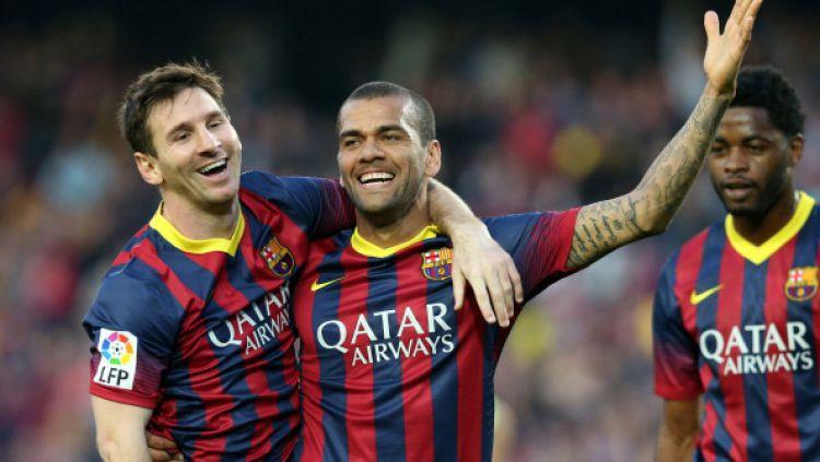 Dani Alves Buka Keburukan Barcelona dan Sebut Lionel Messi Terbaik Dunia 1