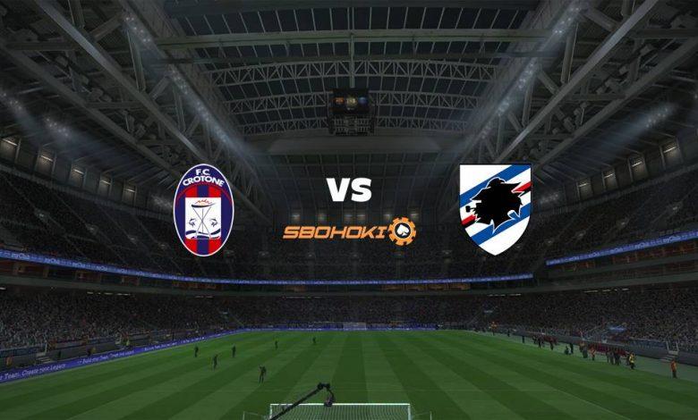 Live Streaming Crotone vs Sampdoria 21 April 2021 1