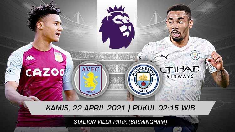 Prediksi Liga Inggris Aston Villa vs Manchester City 1