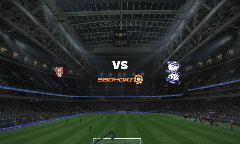 Live Streaming Rotherham United vs Birmingham City 18 April 2021 1